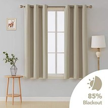 Deconovo Room Darkening Curtains Thermal Insulated Grommet Curtain 42x45... - $17.53