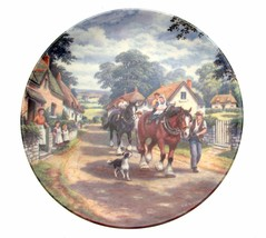 With The Children The Village Shires Stan Mitchell Horse Plate Collector Plate - $38.24