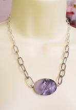 marble stone pendant necklace gemstone handmade... - $5.99