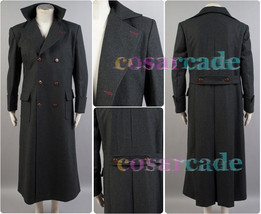 Sherlock Holmes Wool Trench Coat Jacket Cape Robe Cosplay Costume Uniform - $107.64+