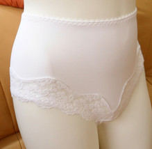 BRIEFS WHITE MADE IN EUROPE LUX STRETCH LIGHT SHAPER FULL COVERAGE CLASSIC - $36.00