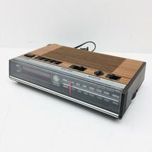 Vintage GE Digital Alarm Clock Radio AM FM Woodgrain Model 7-4624B TESTED - €27,66 EUR