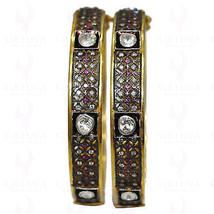 Handmade Vintage Inspired 7.15Ctw Rose Cut Diamond Silver Bracelet Pair ... - $1,650.00