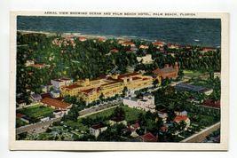 Aerial View showing Ocean and Palm Beach Hotel Palm Beach Florida - $1.99