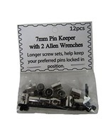 ALBATROS 24 Pieces 7mm Silver Pin Keepers with Allen Wrenches Backs Lock... - $27.88