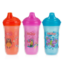 Nuby 3 Piece Insulated No Spill Easy Sip Cup With Vari-Flo Valve Hard Sp... - $11.87