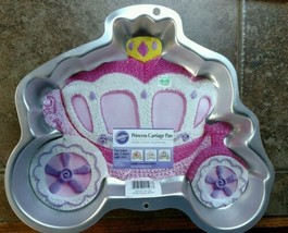 Wilton Pink Princess Carriage Cake Decorating Pan & booklet birthday party  - $21.77