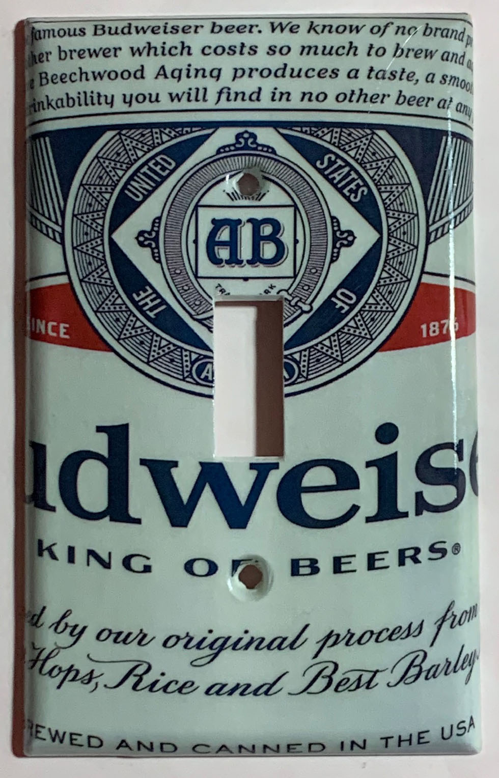 Budweiser cans single toggle