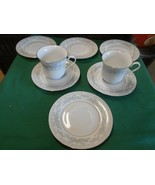 Beautiful China by SOMERSET by NL EXCEL  2 CUPS & SAUCERS & 4 Extra SAUCERS - $14.44