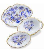 DOLLHOUSE Blue Onion Oval Platter Set 1.448/5 Reutter Plate Miniature - $16.87