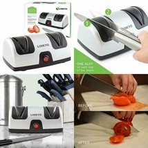 LINKYO Electric Knife Sharpener, Kitchen Knives Sharpening System - $30.88
