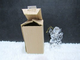 Clear Plastic Angel with Instrument Ornament in Box, Decorative Holiday ... - $4.75
