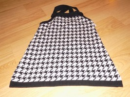 Girl's Size 8 Gymboree Holiday Friends Black White Houndstooth Sweater Tank Top - $15.00