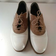 Nike Air Classic Plus White & Brown Saddle Golf Shoes Size 9 image 8