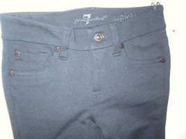 New Girls Jeans The Skinny 7 for all mankind 12 NWT Leggings Black Pants Rayon image 3