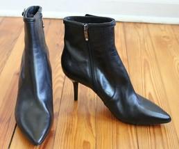 NWOB Via Spiga Mismatch 7.5N 7W Black Point Toe Heeled Ankle Boots - $36.10