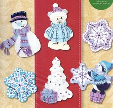 Bucilla Wintry Wonderland Snowman Bear Penguin Christmas Felt Ornament K... - $39.95