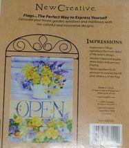 New Creative 26142 Floral Indoor Outdoor Garden Flag Open image 4