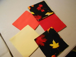 """50 4"""" Pre-Cut Quilt Squares FALL LEAVES #636A - $9.88"""