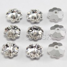12 pcs Swarovski Crystal 3700 8mm Flower Margarita Lochrose Beads CLEAR ... - $4.20
