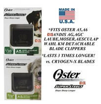 Oster Super Steel(Like Titanium)4F&10 Blade Fit A5,A6,Andis Agc,Wahl Km Clippers - $71.38