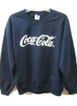 Coca-Cola Navy Blue Sweatshirt Size Large White Script Logo  - $16.34