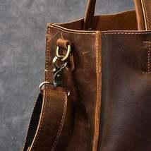 On Sale, Handmade Tote Bag, Horse Leather Shoulder Bag, Leather Shopping Bag image 3