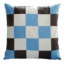 Lattice Pattern Throw Pillows Canvas Patchwork Sofa/Bed Decorative Pillows - $48.07 CAD