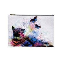 Cosmetics Makeup bag Pouch Purse Accessory Cat 614 multicolor butterfly ... - $11.99+