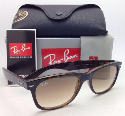 9d78192d1ea76 New Ray-Ban Sunglasses RB 2132 710 51 55-18 NEW WAYFARER Havana   Brown  Gradient