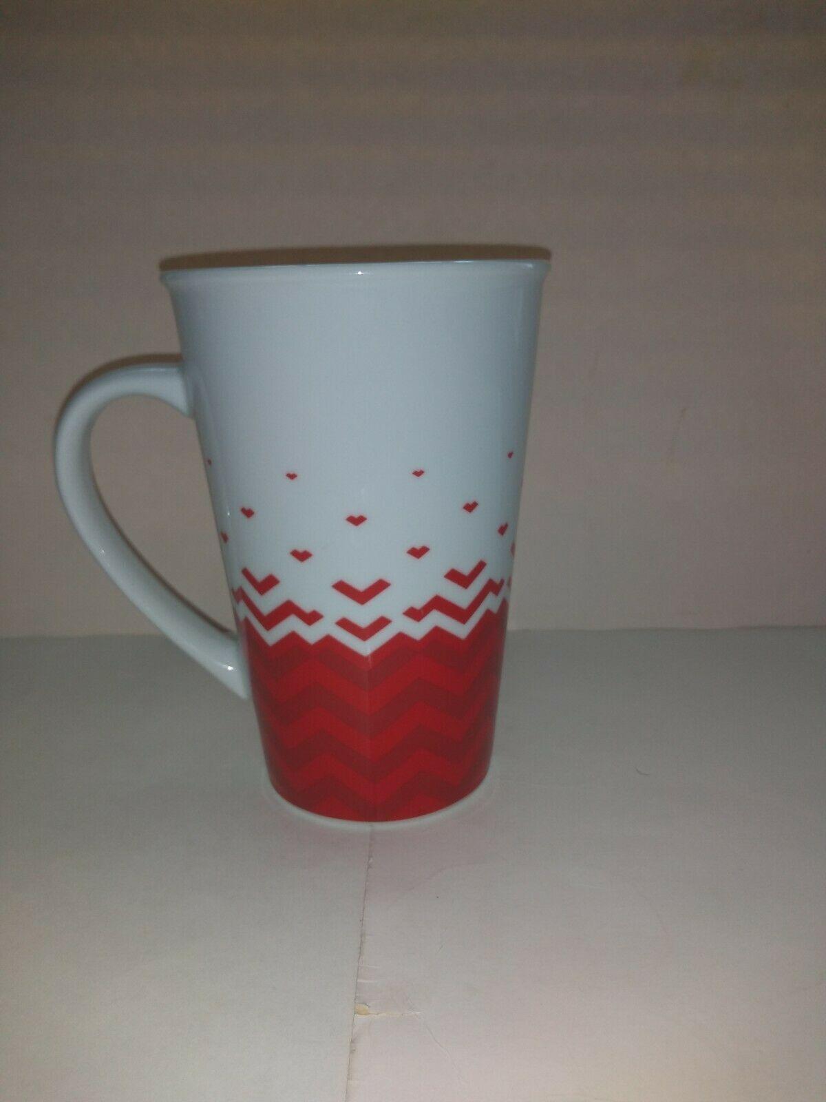 Starbucks 2013 Red White Hearts Valentines Day Mug 22 OZ  image 3