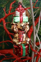 Pottery Barn Glass Bear Ornament - Nib - Gives New M EAN Ing To Bearing Gifts! - $19.95