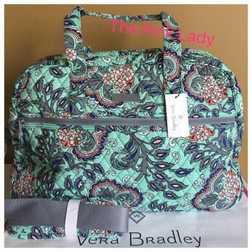 NWT Vera Bradley Fan Flowers Medium TRAVELER BAG Weekender Carry On Tote  Travel -  64.99 f1fdf46eadd32