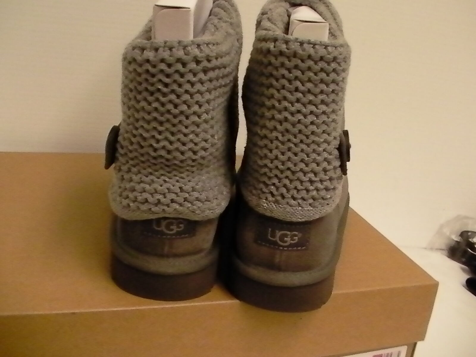 ca2f20d644c Womens UGG Shaina Grey Gray Knit Boots NEW and 50 similar items