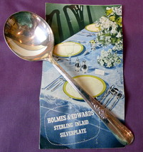 "Holmes Edwards Soup Spoon Youth Pattern Inlaid Silverplate 7"" 1940's - $4.46"