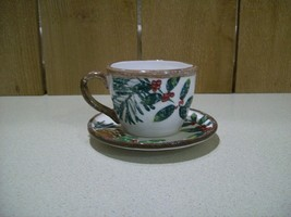 Yankee Candle Co. 2012 Cup and Saucer #1236034 V/H Cup Greenery Candle H... - $15.84