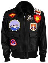 Tom Cruise Top Gun Maverick Fur Collar Aviator Pilot Bomber Real Leather Jacket image 5