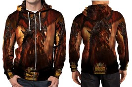World Of Warcraft Cataclysm Hoodie Zipper Fullprint Men - $46.80