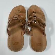 UGG Australia Audra Sterling Braided Flip Flop Sandal Women's Size 6 101... - $23.09