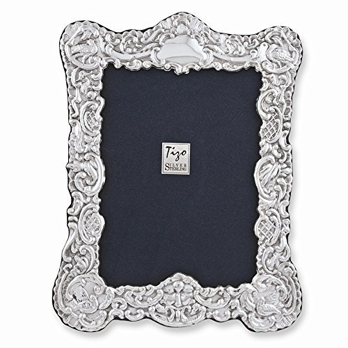 925 Sterling Silver Old English Ornate 5x7 Frame - $392.86