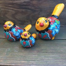 Talavera Pottery Birds - Mexican Hand Painted Ceramic Pajaro - Three Pie... - $34.99