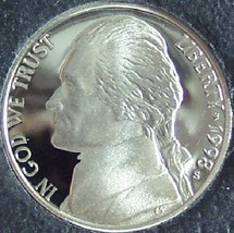 1998-S DCAM Proof Jefferson Nickel #0448 - $2.39