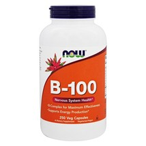 NOW Foods Vitamin B100 High Potency B Complex, 250 Capsules - $31.59