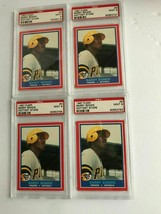 Lot of (4) 1987 Fleer Hottest Stars Barry Bonds #5 Rookie Card Graded PS... - $102.56