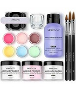 Morovan Acrylic Nail Kit Acrylic Powder with Professional Liquid Monomer For ... - $29.32