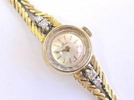 "Bucherer 18Kt Diamond Yellow Gold Round Watch .20Ct 6.5"" ESTATE MINT - $1,534.50"