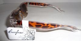 Curfew Sunglasses Animall Print Brown & Gold Metal NWT 100% UV Protection - $9.99