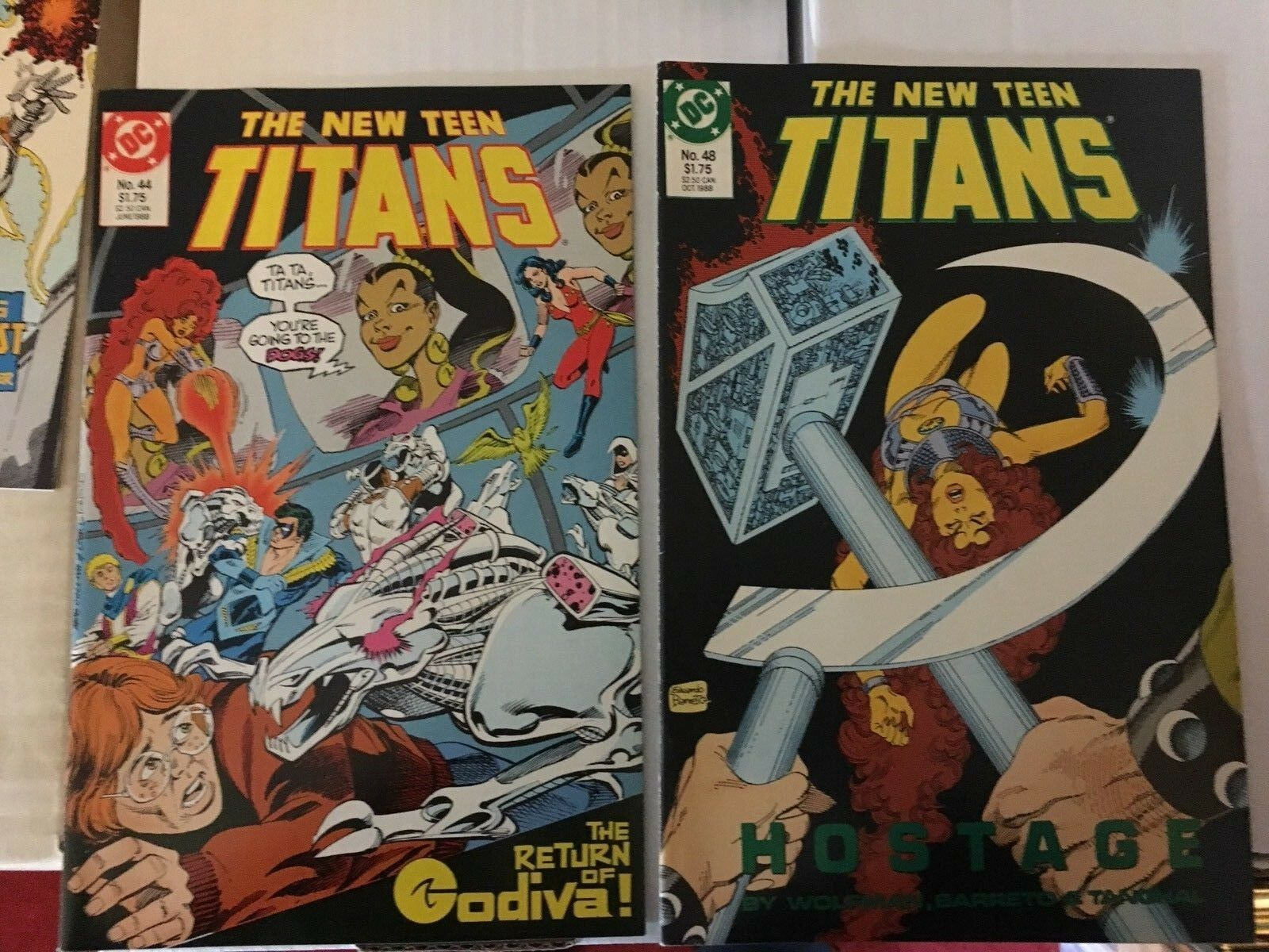 The New Teen Titans 39 - 50 1988 NM Condition DC Comic Book Lot Of 12