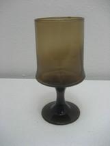 """Vintage Amber Footed 6.25"""" Wine Water Stemmed Goblet - $3.95"""