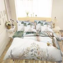 3D Snow Scenery Bed Pillowcases Quilt Duvet Cover Set Single Queen King Size AU - $64.32+
